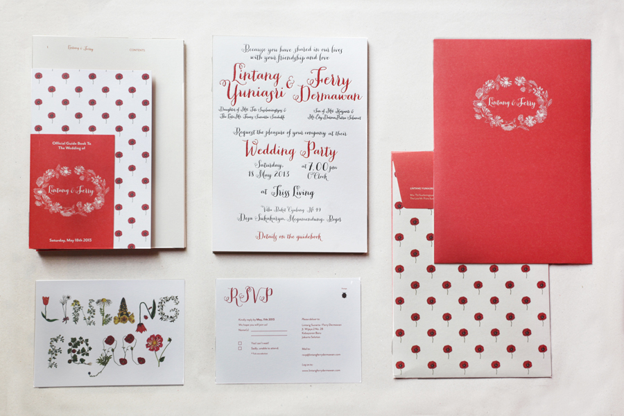 Red card wedding invitation jakarta best shoes wedding dreamday invitations invitation card wedding chinese stopboris Gallery