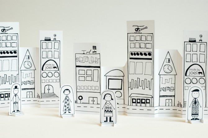 Paper city by MadebyJoel