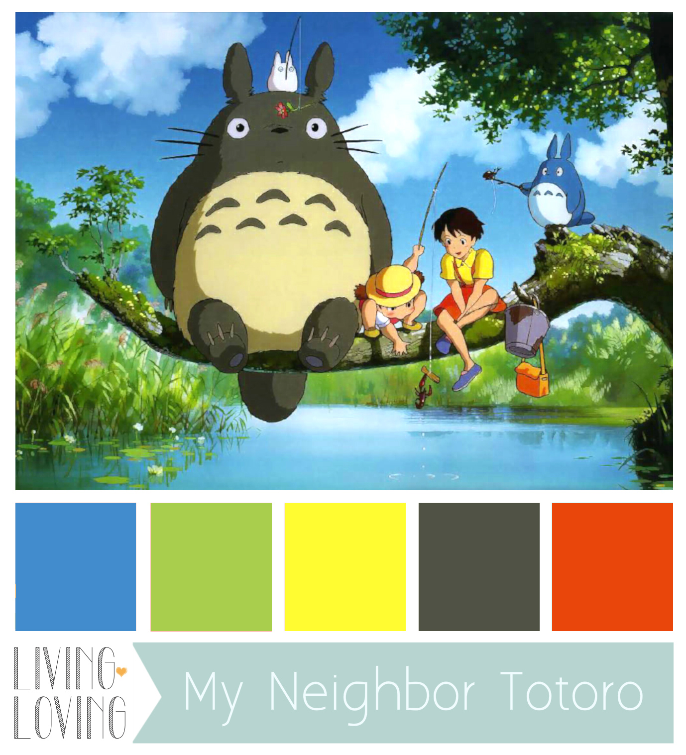 COLOR PALETTE: MY NEIGHBOR TOTORO | Living Loving – For ...